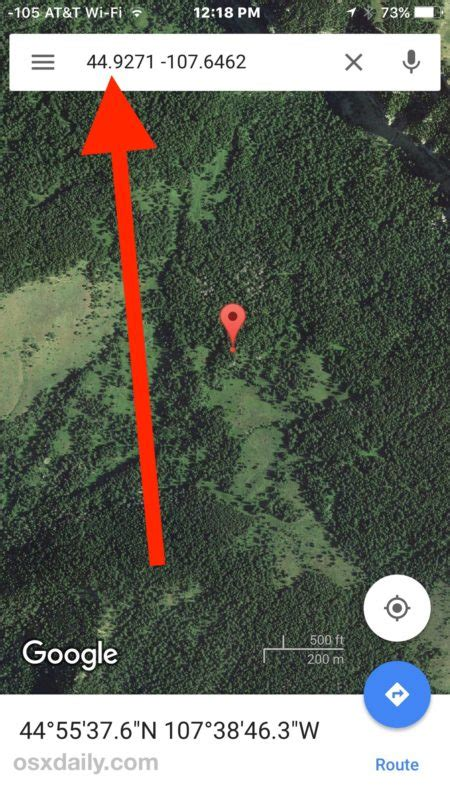 How to Input Location with GPS Coordinates on iPhone Maps