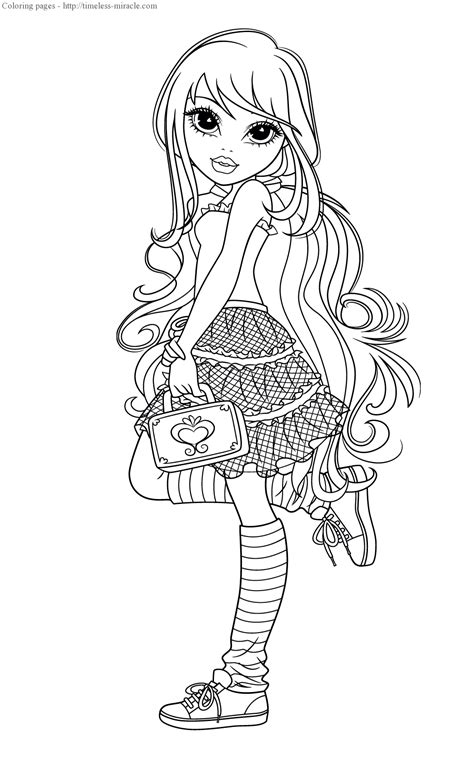 Moxie girlz coloring pages - timeless-miracle