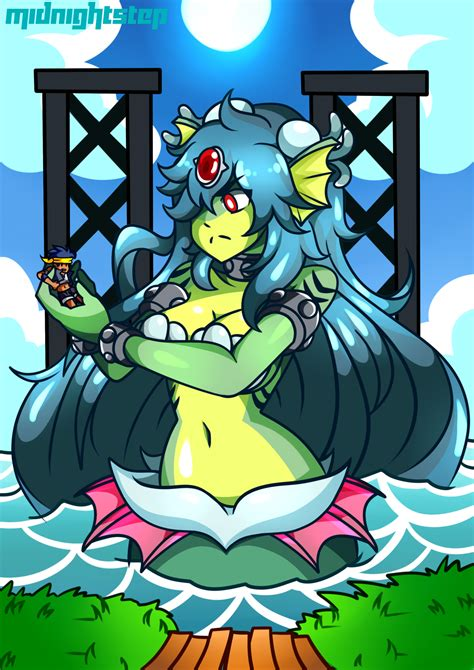 Giga Mermaid and Bolo by Midnightstep