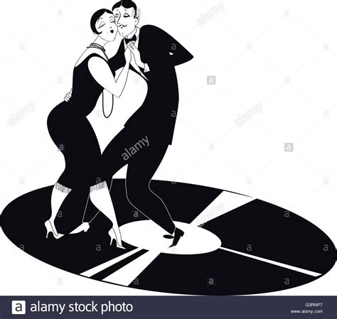 1920s Party Illustration Stockfotos & 1920s Party