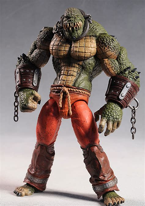 Review and photos of Arkham Deluxe Killer Croc action