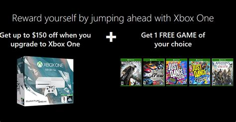 Deal: Get up to $150 off the Xbox One and a free game of