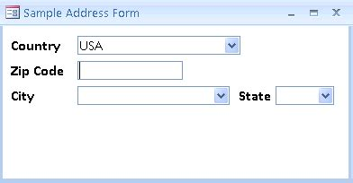 Microsoft Access Zip Code Database with Latitude and