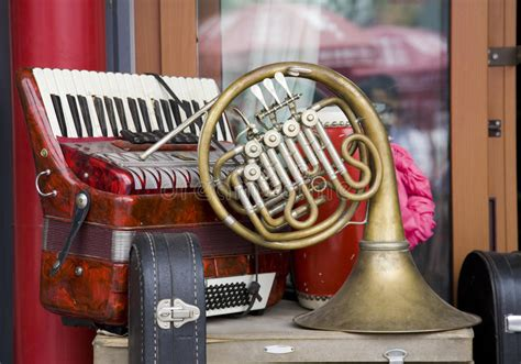 Old-fashioned Musical Instrument Stock Image - Image of