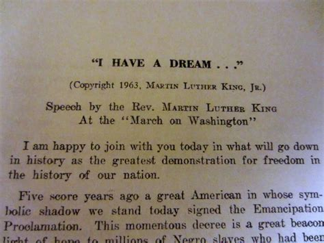 I Have A Dream Speech Quotes