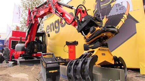 Engcon Tiltrotator And Quick Hitch Standard Control Demo