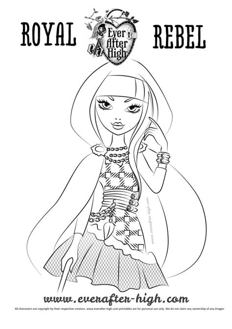 Cerise Hood Coloring Page   Ever After High