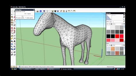 how to make soften edges in sketchup - YouTube