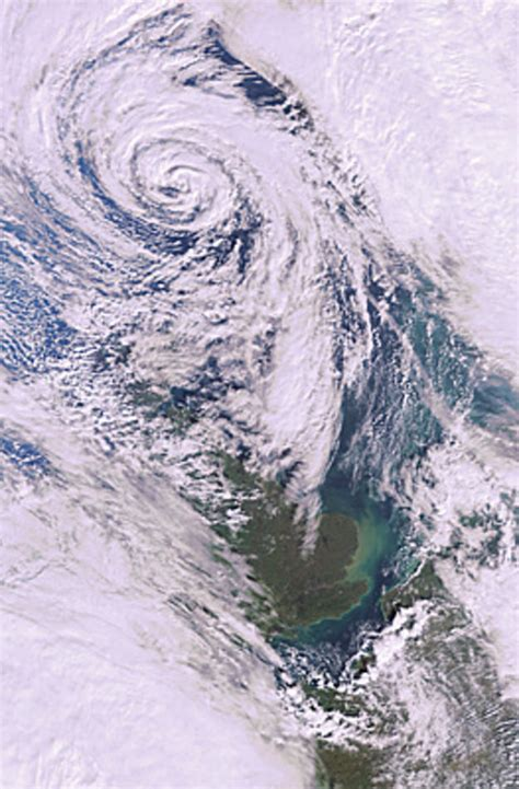 Earth from Space: Depression in North Atlantic / Observing