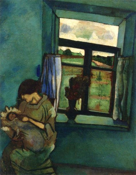 Bella and Ida by the Window, 1916 - Marc Chagall - WikiArt